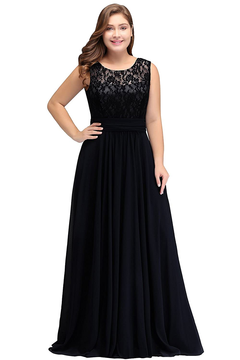 536f833a7134b Babyonline Women Chiffon Long Mother of The Bride Dresses Plus Size Prom  Dresses at Amazon Women's Clothing store: