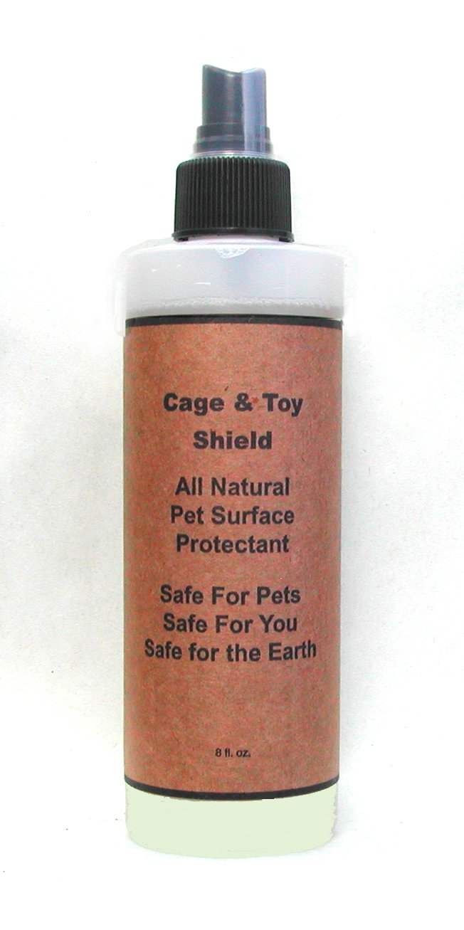 Natural Non-Stick, Habitat Surface Spray: Cage & Toy Shield with Odor Prevention for Birds, 8 oz. Really Natural Pet Products