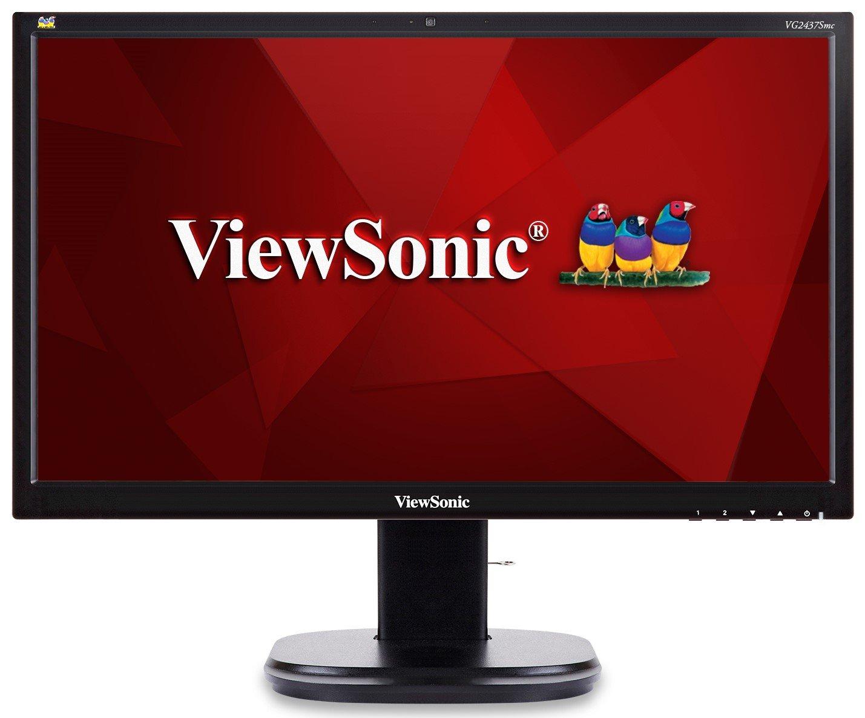 ViewSonic VG2437SMC 24'' 1080p Ergonomic Monitor DisplayPort, DVI, VGA, WebCam by ViewSonic (Image #9)