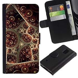 KingStore / Leather Etui en cuir / Samsung Galaxy S5 V SM-G900 / Turquía Alfombra abstracta de la burbuja