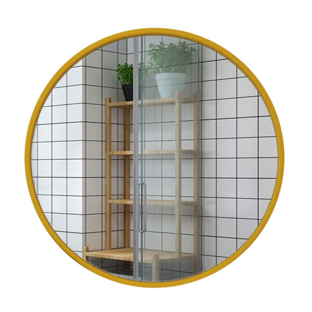 Espejo de ba/ño Ba/ño Montado en la Pared Espejo Redondo Met/álico Enmarcado Espejos Grandes para tocador Espejo de Afeitar Espejo de Aumento Maquillaje Espejo Dormitorio Dormitorio Sala de Estar