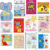12 Pack of Children's Greeting & Birthday Cards