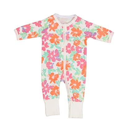 Amiley baby girl clothing Set , Newborn Baby Girls Floral Print Zipper Long Sleeve Romper Clothes