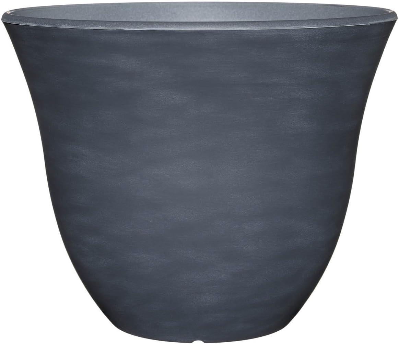 "Classic Home and Garden Honeysuckle Planter, Patio Pot, 13"" Zinc"
