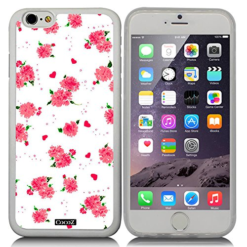 CocoZ? New Apple iPhone 6 s 4.7-inch Case Beautiful flower pattern TPU Material Case (Transparent TPU & Beautiful flower - Rhinestone Chanel Eyeglasses