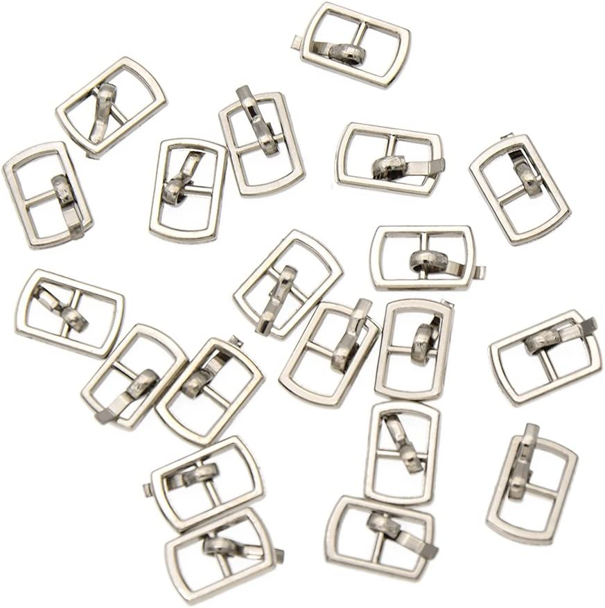 Pack of 4pcs Pin Buckles Single Prong Belt Buckle Bag Shoe Mini Buckles DIY