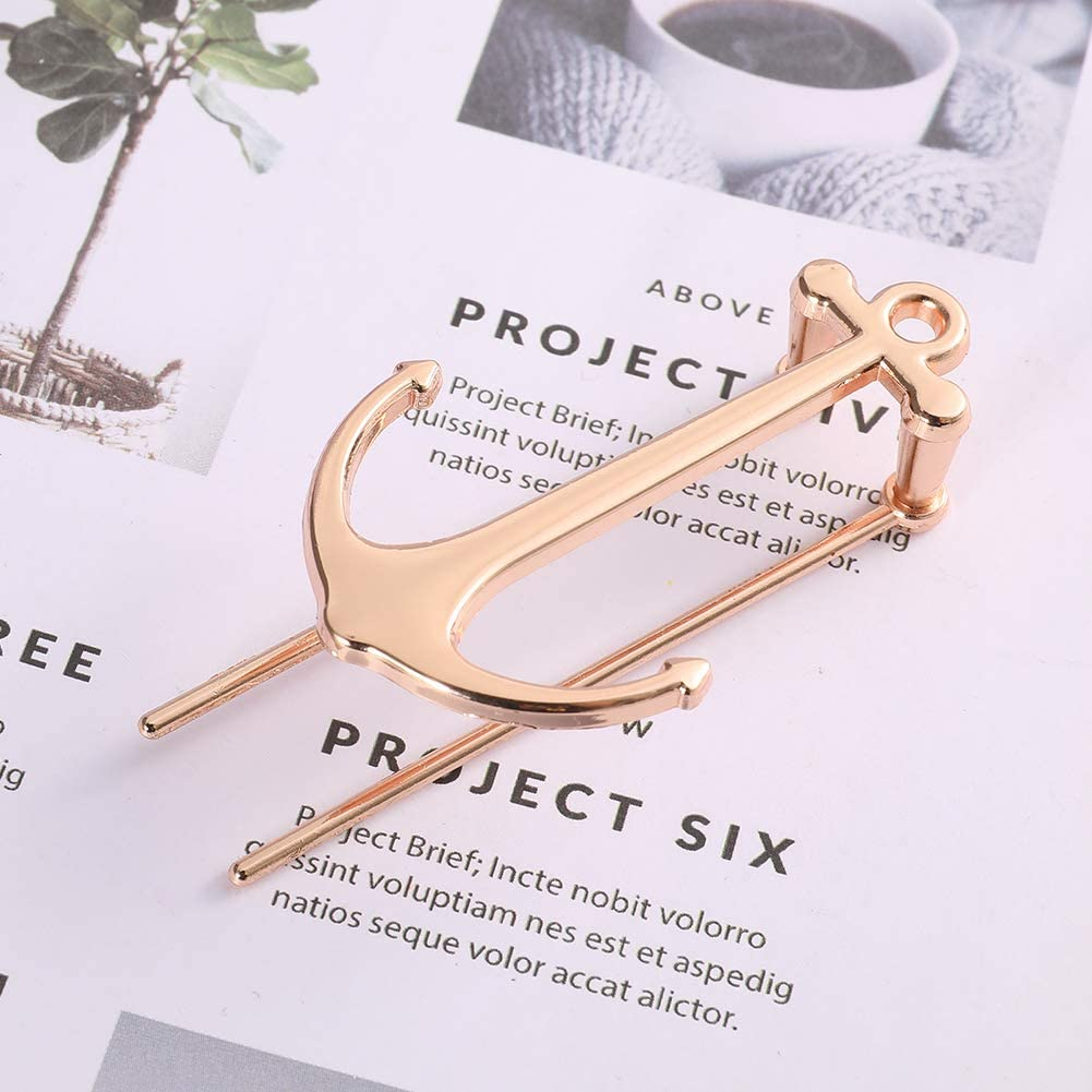 You/&Lemon 2 Pieces Metal Anchor Bookmark Creative Bookmarks Book Page Marker for School Office Supplies Sliver