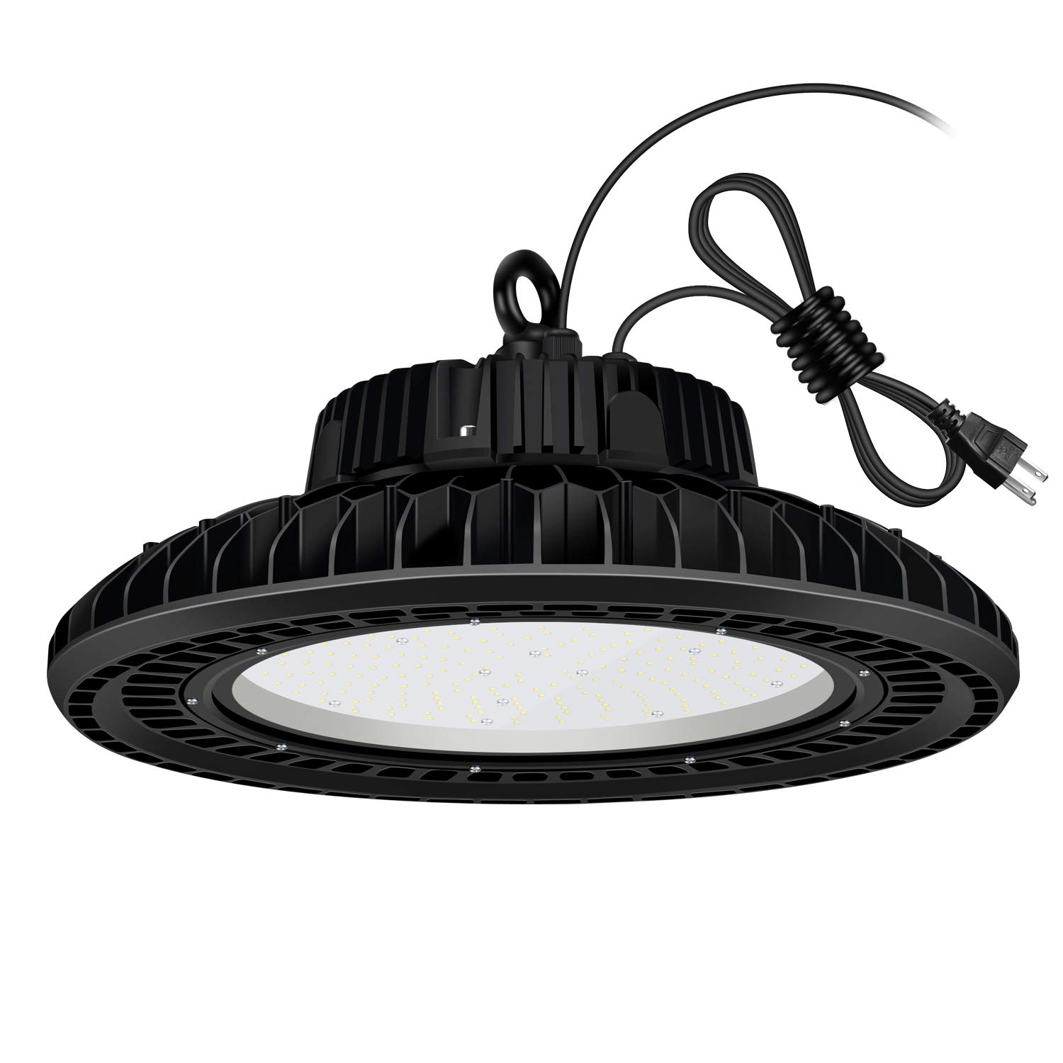 AntLux UFO LED High Bay Light - 200W (800W HID/HPS Replacement), 24000LM, 5000K, Dimmable (Optional), IP65 Waterproof, US Plug, Warehouse Lights, Industrial Workshop High Bay LED Lighting Fixtures