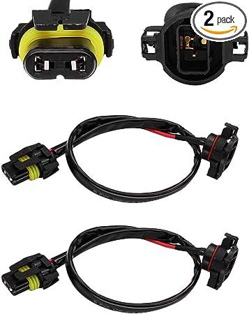 Pack de 2 DFYYQ 5202 H16 Extension Fils Prise for phares antibrouillards travaux de r/éfection Utilisation, Color : 5202 Extension