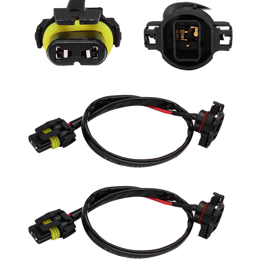 huiqiaods jeep wrangler jk fog light wiring harness kit 5202 h16 ...  amazon.in