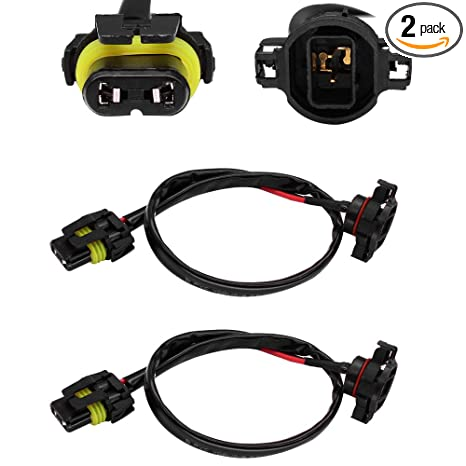 HUIQIAODS Jeep Wrangler JK Fog Light Wiring Harness Kit 5202 H16 to on
