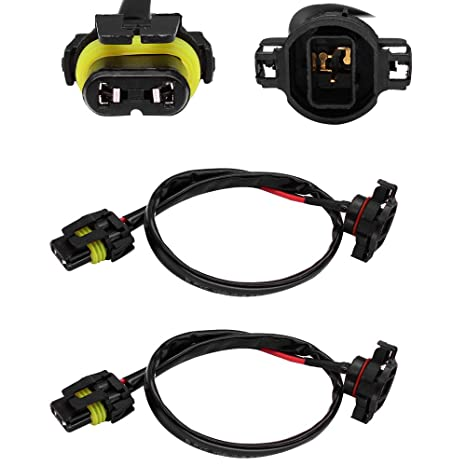 huiqiaods jeep wrangler jk fog light wiring harness kit 5202 h16 to 9006 9005 hb3 wiring harness socket for headlight fog lights retrofit work use Jeep Light Wiring