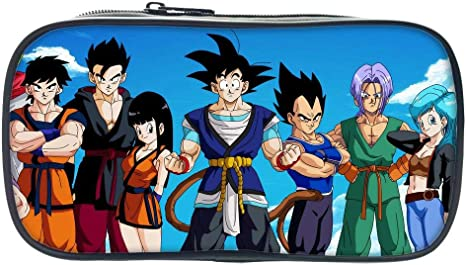 Estuche Escolar Anime Bolsa De Lápices Dragon Ball Estudiante Bolsa De Lápices Bolsa De Almacenamiento Multifuncional Papelería Bolsa Negro: Amazon.es: Deportes y aire libre