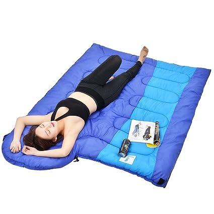 HM&DX Saco De Dormir Camping Adulto,Rectangular 4-Seasons Impermeable Algodón Bolsa De Dormir Saco De Compresión Hiker Mochilero Viajar Actividades Al Aire ...