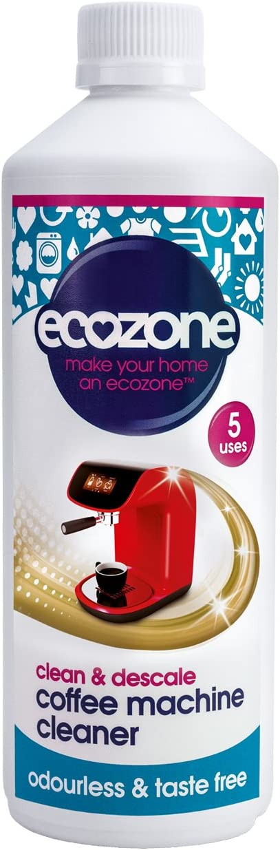 Ecozone Coffee Machine Cleaner And Descaler 500 Ml 5 Applications Per Bottle