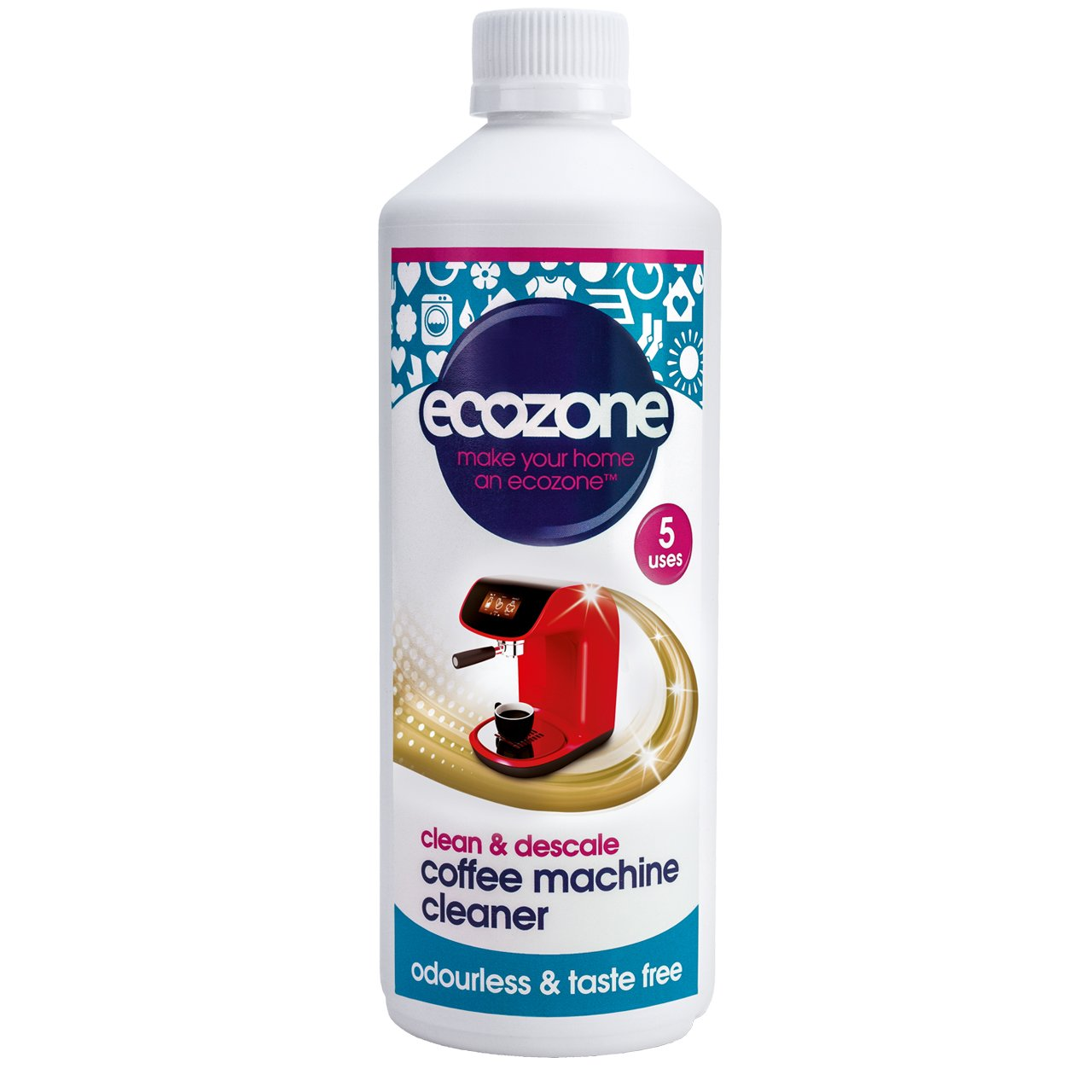 Ecozone Coffee Machine Cleaner/Descale 500ml x 2 (Pack of 2)