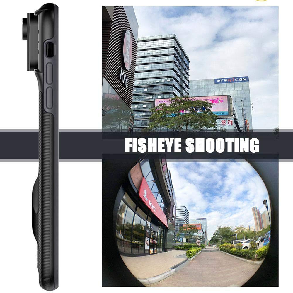 leegoal Telefon Kamera Lens System F/ür iPhone XR//XS // XS Max-Objektiv XS Max Switch 6-Objektiv-Kit 6-in-1-Makro-Fisheye-Teleobjektiv-Weitwinkel-SLR-Telefongeh/äuse f/ür Apple iPhone XR//XS // XS Max