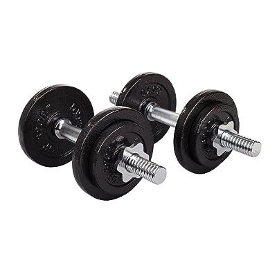 Set d'haltères courts en fonte 20 kg(2x10 kg)