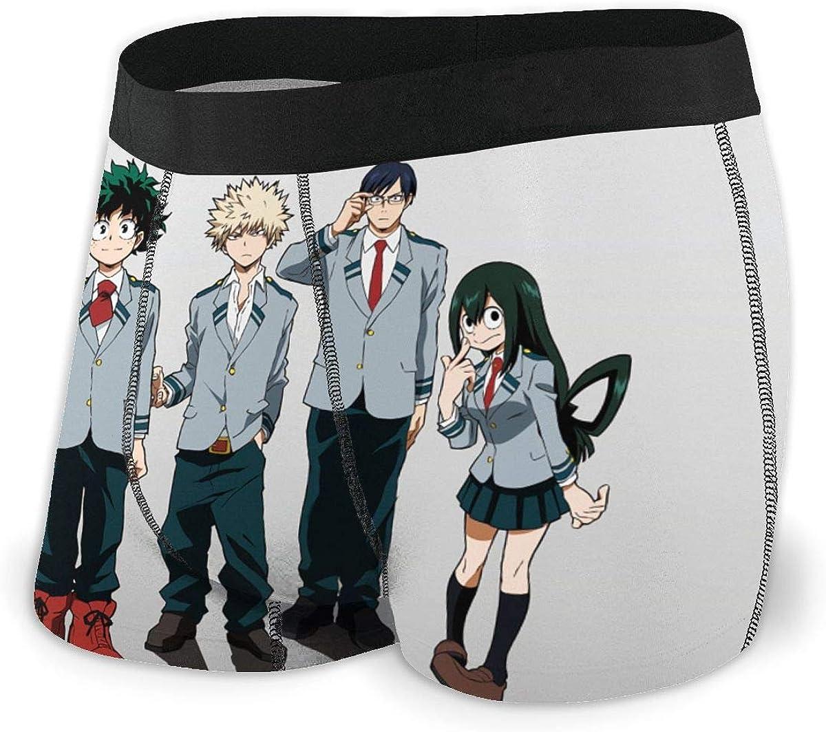 Japanese Cartoon Vocaloid Hatsune Miku Music All Mens Boxer Briefs Mens Underwear Cotton Underwear Stylish Black