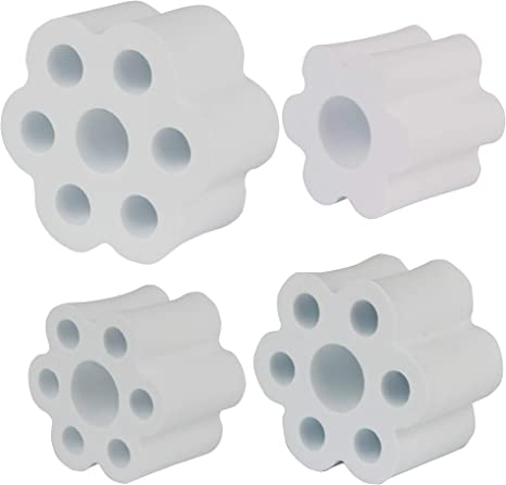 Masbros Cup Turner Foam Inserts Set for 1 PVC Pipe Fit All Tumblers Bottles Cups with Mouth Opening Width from 2 to 4 Set of 4 for 1 PVC Pipe