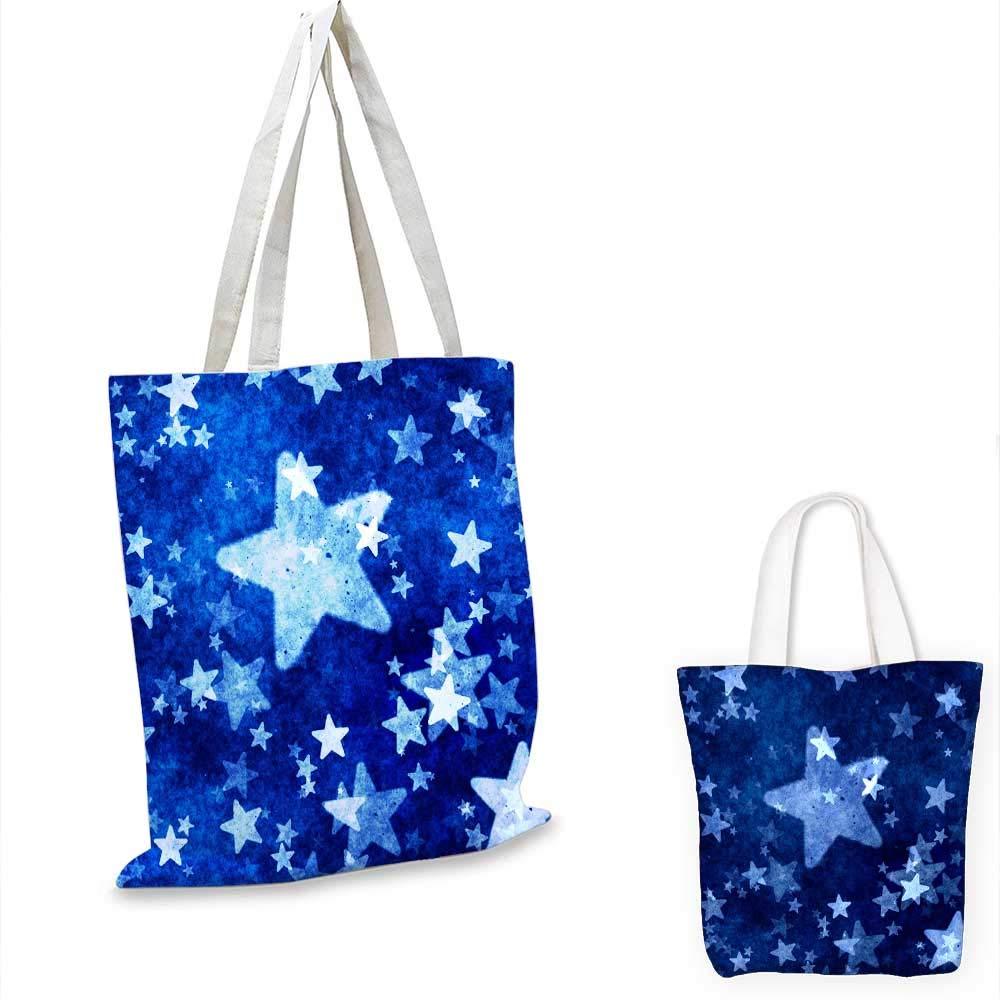 Christmas blue star canvas messenger bag canvas beach bag 14x16-11inch