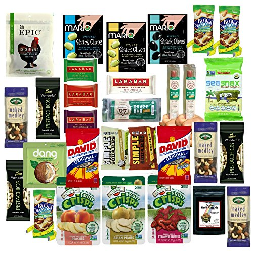 Healthy Snacks Variety Care Package, Individually Wrapped (30 Count) Box