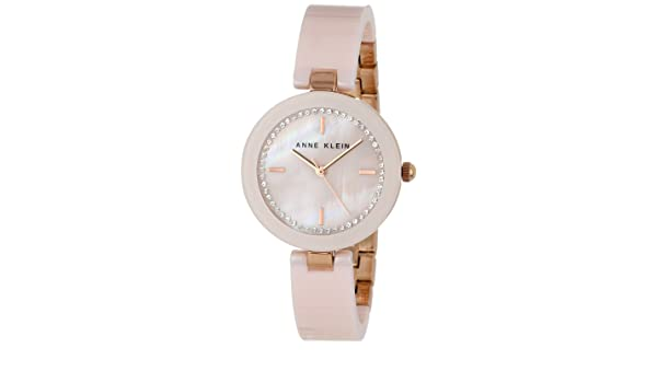 Amazon.com: RELOJ para MUJER ANNE KLEIN AK/1314RGLP CERAMIC SWAROVSKI CRYSTAL ACCENTED PINK BANGLE: Health & Personal Care