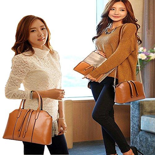 Purse Satchel Large Hobo Pcs FiveloveTwo Women Bag Handle Holder Black Card Handbag Tote Shoulder Top Set 4 nxPzxX