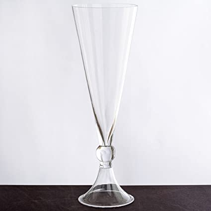 Amazon Balsacircle 4 Pcs 16 Tall Clear Glass Trumpet Vases For