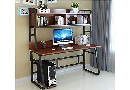 Mesas para ordenador Computadora de escritorio con 3 estantes de ...