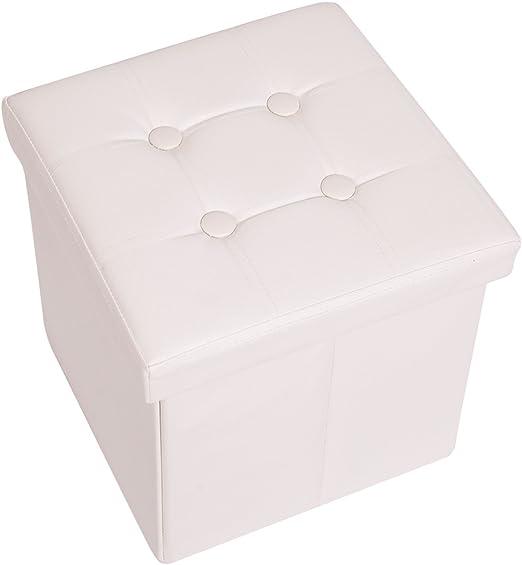 Mobili Rebecca® Puff Caja Taburete almacenar Baules Polipiel puf con Tapa Organizador casa Dormitorio 38 x 38 x 38 cm (Cod. RE4914): Amazon.es: Juguetes y juegos