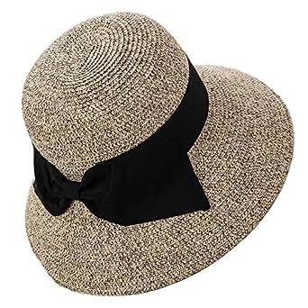 6137eb90cd666a Siggi Womens Floppy Summer Sun Beach Straw Fedoras Hats Accessories ...