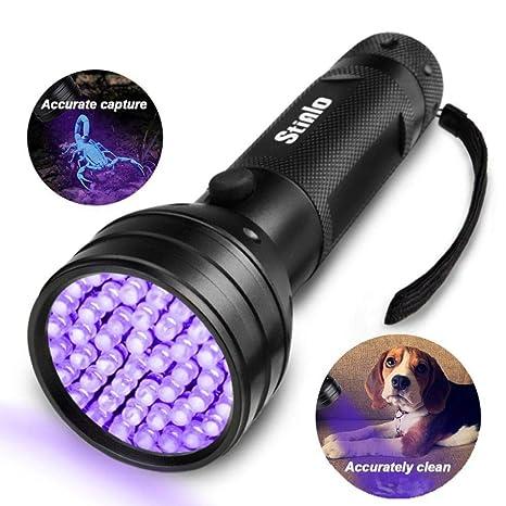 Linterna UV de luz Negra, 51 Luces UV LED Ultravioleta para orina de Perro,