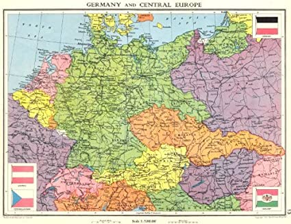 Map Of Germany 1938.Amazon Com Germany Central Europe Shortly Before World