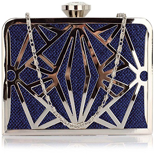 TrendStar - Cartera de mano para mujer Small Blue Clutch bag
