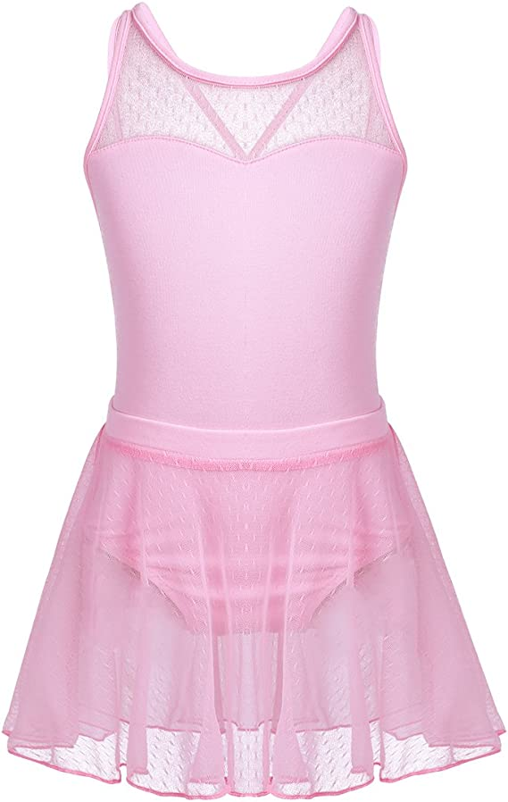 Freebily Vestido Maillot de Danza Ballet con Costura sin Mangas + ...