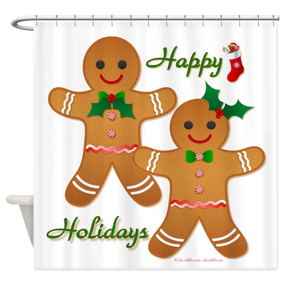 Gingerbread Kitchen Curtains Amazoncom Cafepress Gingerbread Man Boy Girl Shower Curtain