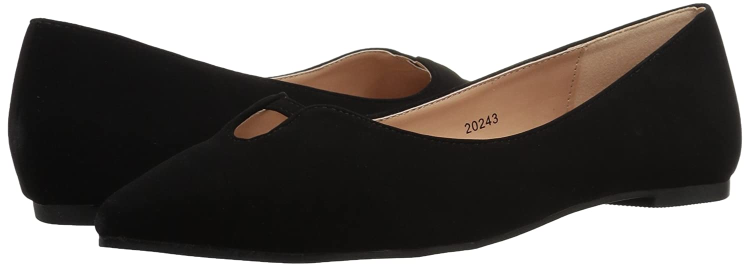 Brinley Co Women's Henna Ballet US|Black Flat B01N64BDSM 6.5 B(M) US|Black Ballet ae21f1