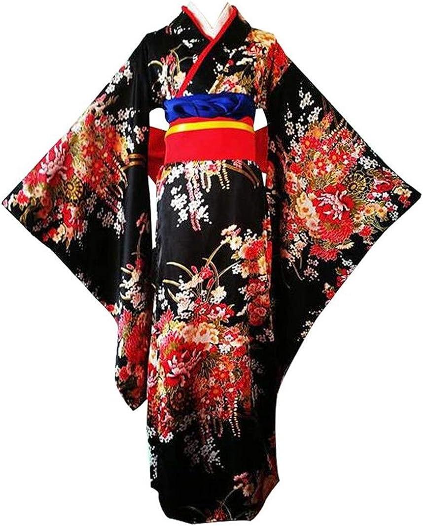Green Flowers Japanese Style Women/'s Dress