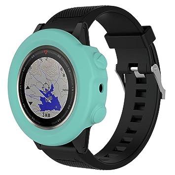 Señor Reloj Digital, sonnena funda Repuesto de silicona fina para reloj Garmin Fenix 5 x GPS reloj Fitness Hombre Reloj Sport reloj madera pulsera Standard ...