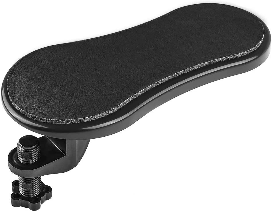 PRETTY SEE Computer Arm Rest Support for Desk and Chair, Sturdy Mouse Arm Rest, Desk Extender for Computer, for Home& Office