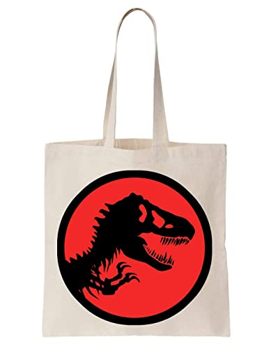 Jurassic Park Dinosaur Red Algodón Bag Tote Bag: Amazon.es ...