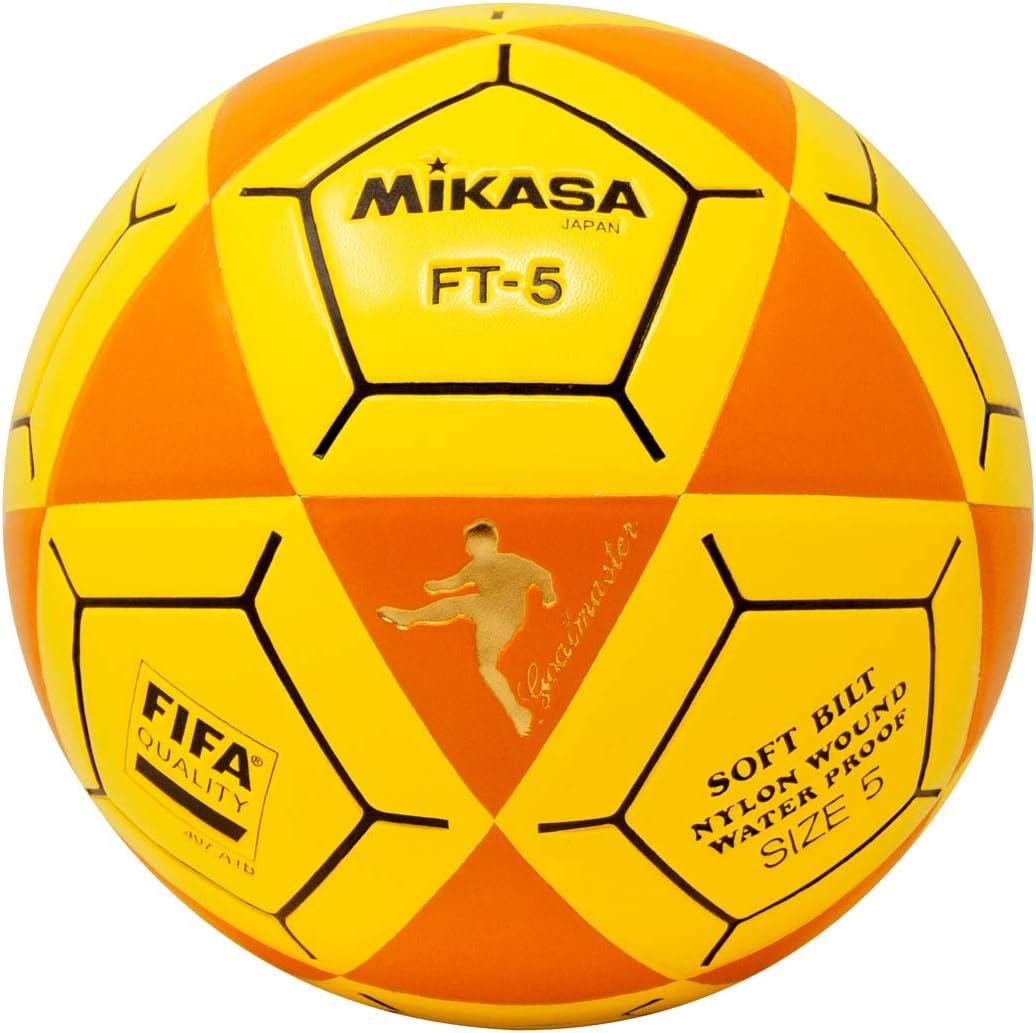 Mikasa FT5 Goal Master - Balón de fútbol, Color Naranja y Amarillo ...