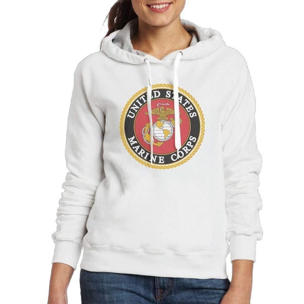 United States Marine Corps Womens Simple Style Hoodie Sweatshirt Hoodie Pullover Small