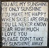 Sugarboo Designs Art Print AP113 You are My Sunshine, 26-Inch by 26-Inch by 2-Inch