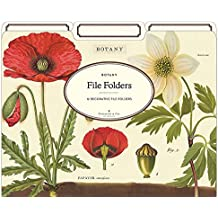 Cavallini Papers & Co Botany Heavyweight File Folders (Set of 12)