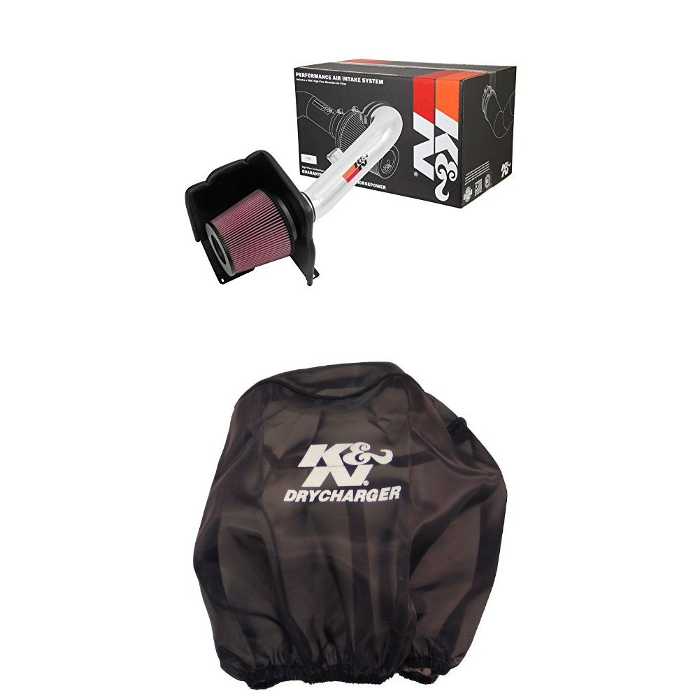 K/&N 77-3101KP Performance Air Intake System with Black Air Filter Wrap