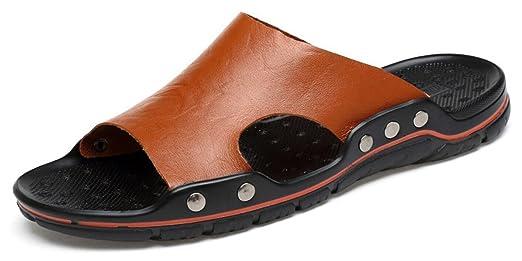 CYGG Sommer Herren Hausschuhe Rutschfeste Sandalen Mode Lässig Strand Schuhe,40