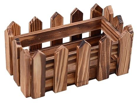 Decorazioni In Legno Per La Casa : Outflower piccola recinzione carbonizzata in legno flowerware