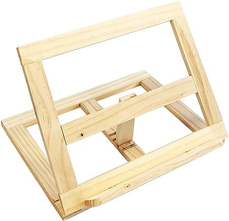 Atril de madera de pino de 20 x 27 x 4 cm